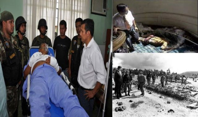 Three presidents of Peru in three moments in the fight against insurgency.