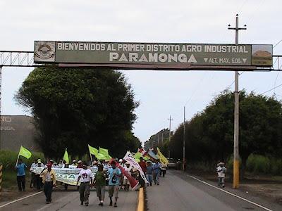La Marcha del Agua en Paramonga